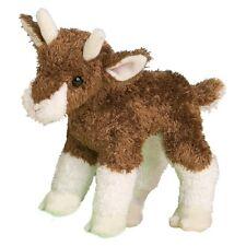 "BUFFY 6.5"" long stuffed BABY BROWN GOAT BROWN plush animal by Douglas Cuddle"