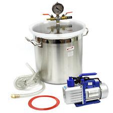 5 Gallon Vacuum Degassing Chamber Silicone Kit Amp 5 Cfm Single Stage Pump Hose