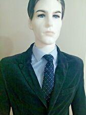 Mens Vintage Blue Corduroy Jacket 40 & Trousers 34 Blue Shirt & Blue Tie