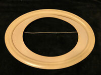 Antique Vintage White Wood Oval Picture Fame With Mat