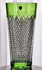 Waterford Prestige Alana Vase Lime Peridot Green Cut to Clear Cased Crystal New
