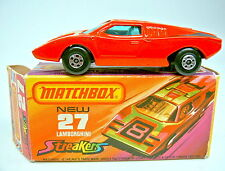 Matchbox Superfast Nr.27B Lamborghini Countach rot graue Einrichtung in Box