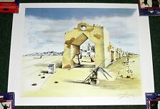 Salvador DALI Paranoic Village Surrealist Signed Litho Art Print POSTER 23X17.5