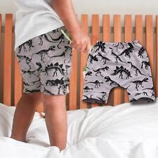 Bebé Infante Niño Verano Dinosaurio Pantalones Cortos Estampado casual