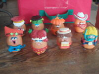 VINTAGE 1988-92 McDONALD'S HAPPY MEAL TOY CHICKEN McNUGGET BUDDIES BIG LOT OF 8
