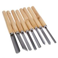 High Grade 8pc HSS Wood Lathe Turning Tool Chisel Set Gouge Skew Carving Tool US