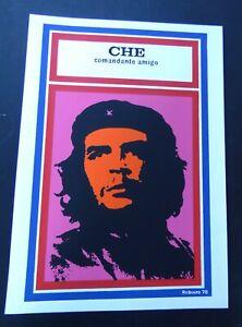 CHE GUEVARA Commander Friend // Cuban Silkscreen Pop Art Mini Movie Poster CUBA