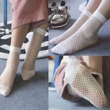 Women Girls Fishnet Ankle High Socks Lady Mesh Lace Fish Net Short Socks Sanwood