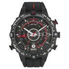 Timex Intelligent Quartz T2N720 Mens All Black Tide Temp Compass Watch