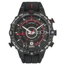 Timex Intelligent Quartz T2N720 Herren Alles Schwarz Gezeiten Temp Kompass Uhr