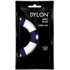 TRUE NAVY BLUE DYLON HAND WASH FABRIC CLOTHES DYE 50g TEXTILE PERMANENT COLOUR
