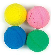 Four Sponge Balls Cat Toy GOOD GIRL Cat Toy In Four Great Bright Colours FUN