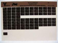 Yamaha FJ1200 1992 FJ1200D FJ1200DC Parts List Manual Microfiche n80