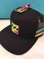 Billabong Men's Reissue Black Trucker Mesh SnapBack  flatbill Limited Hat