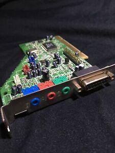 Aztech PCI 338-A3D Sound Blaster SB Compatible Sound Card w Game Port, Bulk New