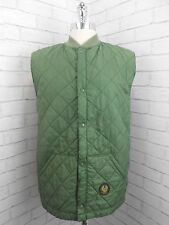 Vintage Belstaff Olive Green Quilted Shooting Gilet Bodywarmer Made In England M