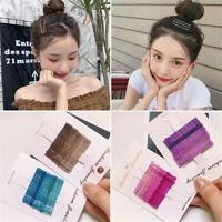 1 Set Candy Colors Girls Headwear Glitter Bobby Pins Barrettes Wavy Hair Clips
