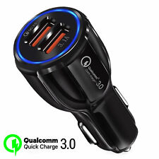 Dual Port USB Car Charger QC 3.0 Quick Charge 12-24V Fast 3.1A Adapter For Phone