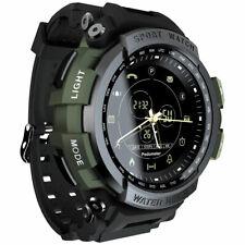 Black Mens Waterproof Smart Watch Military Grade Bracelet Outdoor Sport