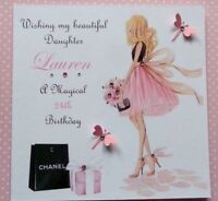 HANDMADE BIRTHDAY CARD PERSONALISED 16TH 21ST 40th DAUGHTER SISTER NIECE COUSIN