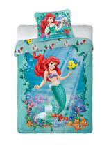 Disney PRINCESS ARIEL Little Mermaid 01 Single Bed Duvet Cover Set 100% COTTON