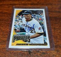 ANDREW McCUTCHEN AUTO ON CARD 2011 TOPPS LINEAGE AUTOGRAPHS #RA-AM PIRATES!!