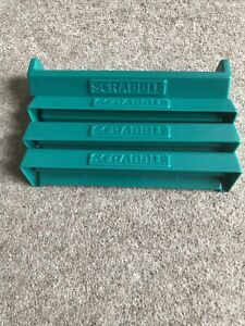 Spare / Replacement 4 X Genuine Scrabble Letter Tile Racks - Green