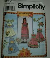 Dress Apron Sewing Pattern 8098 Simplicity Childs 3 4 5 6 Kenna Donna UC FF Girl