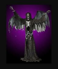 LIFESIZE TALKING ANIMATED ANGEL OF DEATH HALLOWEEN PROP DECORATION SEE VIDEO!