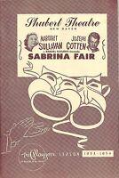 "Margaret Sullavan ""SABRINA FAIR"" Joseph Cotten / Luella Gear '53 Tryout Playbill"