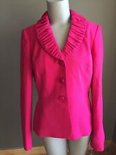NWT Le Suit Orchid Pink Three Button Lined Blazer Women's Sz 4