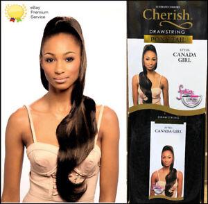 Cherish Drawstring Synthetic Long Curly Wavy Ponytail - Canada Girl