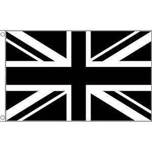 Union Jack Flag - Black - Great Britain - 5 x 3 FT - British Flag