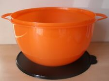 Tupperware Large Thatsa Mixing Bowl 42 Cup Starlight Orange Peel New