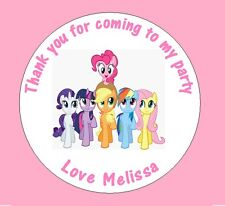 Personalised My Little Pony 45mm Birthday Stickers Party Thank You Seals