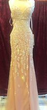 *Rachel Allan*Prom* Pageant* Gown*Dress*Evening* Mermaid* SIZE 2 COLOR BLUSH NWT