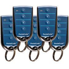 Elsema 3x Pentacode Keyring Remotes 4 Button Blue PCK43304 Battery