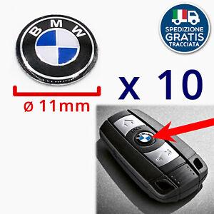 LOGO CHIAVE BMW STEMMA ADESIVO PULSANTE TELECOMANDO BMW diametro 11mm 10 Pezzi