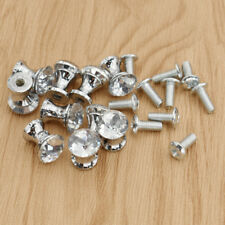 10pcs Small 12mm Knobs Crystal Pulls With Screw Wardrobe Cabinet Drawer Decor
