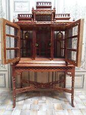 Vogelhaus, Vogelkäfig, Käfig, zum Öffnen, mit Tisch, 1:12, Puppenhaus,Miniaturen