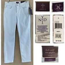 NYDJ Women's 0 Blue Bonnet Clarissa Skinny Ankle Jeans Fine Line Twill Pant NEW