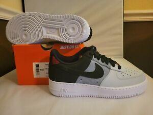 Nike Air Force 1 07' LV8 Men Shoes Black Smoke Grey CZ0337 001 Size 9