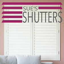 PLANTATION SHUTTER BLINDS - FAST DELIVERY - ORDER SAMPLE - SIMPLY WHITE