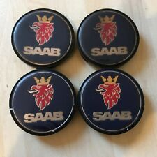 4x Saab 63mm wheel  centre caps  12802437   #JL182