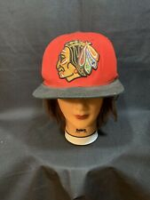 Mitchell and Ness OSFA Red Chicago Blackhawks SnapBack Hat NHL Cap