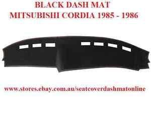 DASH MAT, BLACK DASHMAT, MITSUBISHI CORDIA 1985 - 1986, BLACK