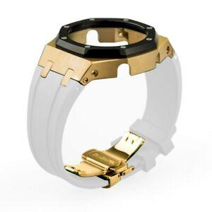 For G-Shock GA2100/2110 CasiOak Mod 3rd Gen Kit Metal Bezel and Rubber Strap Kit