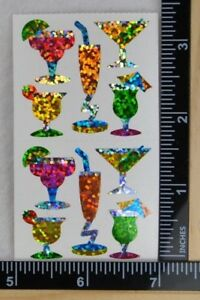 Hambly TROPICAL DRINKS Stickers 1/2 SHEET BEACH VACATION PRISMATIC COCKTAILS