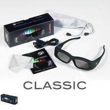 1 Pair Universal Rechargeable DLP Link 3D Active Shutter Glasses Optoma ZD201