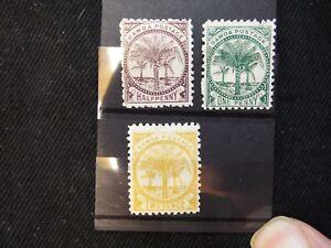 Samoa: 1886 -1900 Wmk 4b, Perf 11 selection mint to 2d